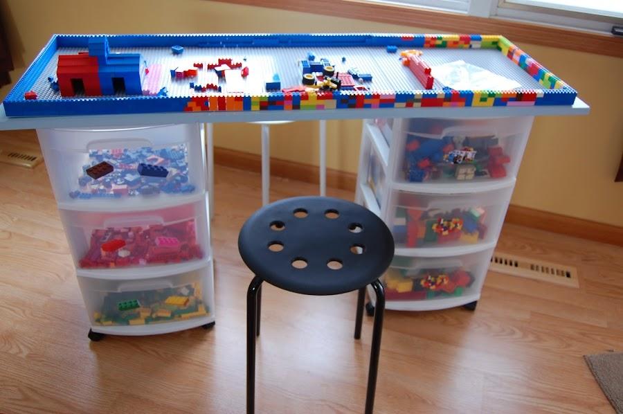 mueble para organizar los legos