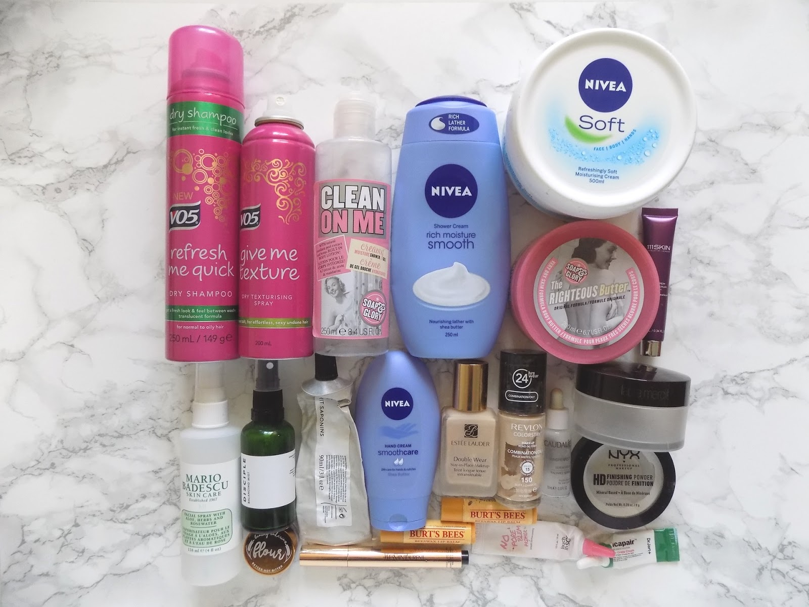 product empties reviews soap and glory nivea niod