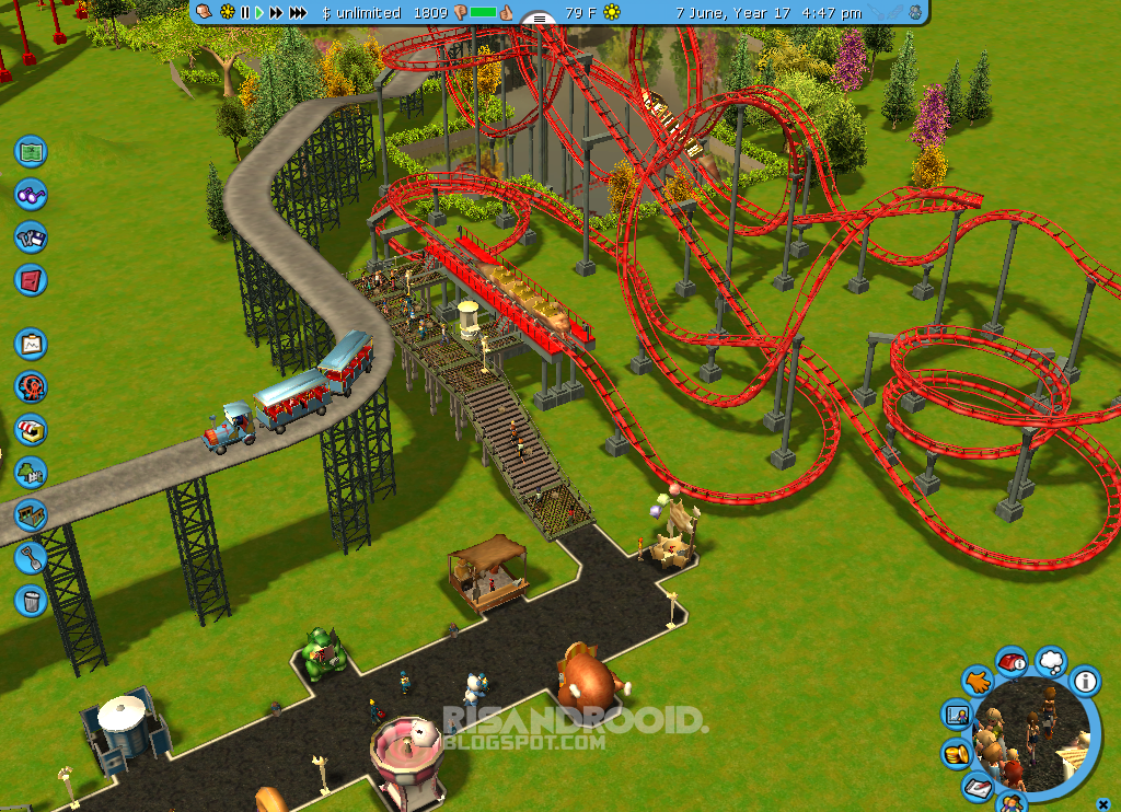 RisanDrooid: Download ROLLER COASTER TYCOON 3 PLATINUM for PC (Include CRACK) Full Version Gratis