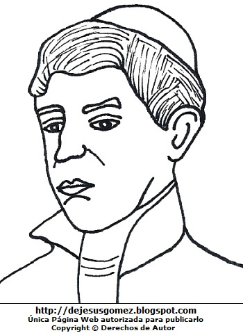 Ilustración de Toribio Rodríguez de Mendoza para dibujar colorear, pintar e imprimir para niños. Dibujo de Toribio Rodríguez de Mendoza de Jesus Gómez