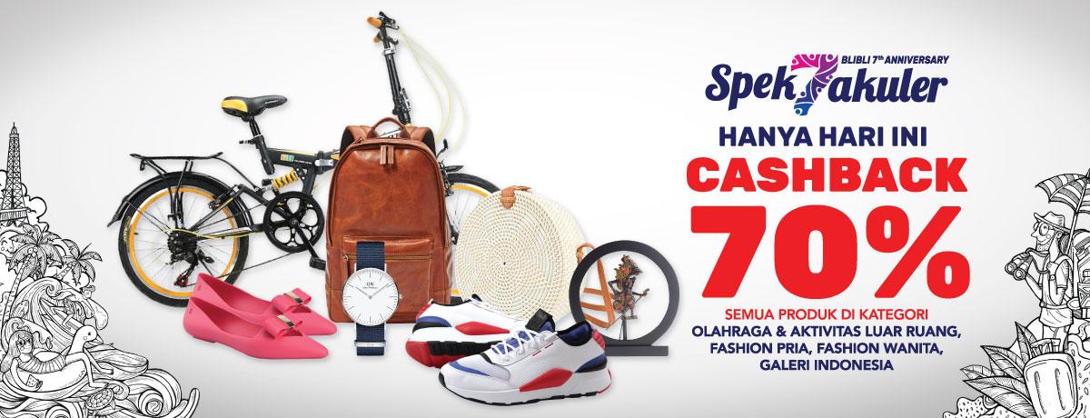 Blibli - Promo Spektakuker Cashback s.d 70% (HARI INI s.d 23 Sept 2018)