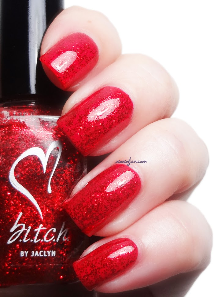 xoxoJen's swatch of b.i.t.c.h. by jaclyn Just Red