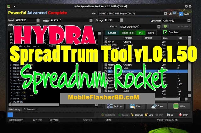 Download Hydra SpreadTrum v1.0.1.50 Tool Latest Setup File Free For All By Jonaki TelecoM