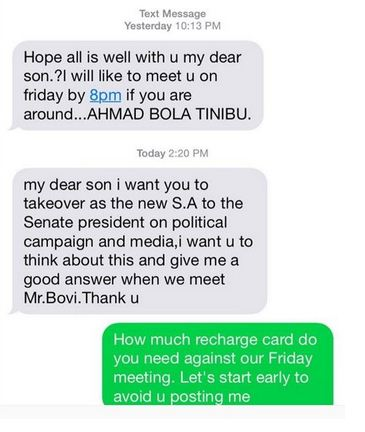 Read This Hilarious Conversation Between Bovi & Fake Bola Tinubu (Here)