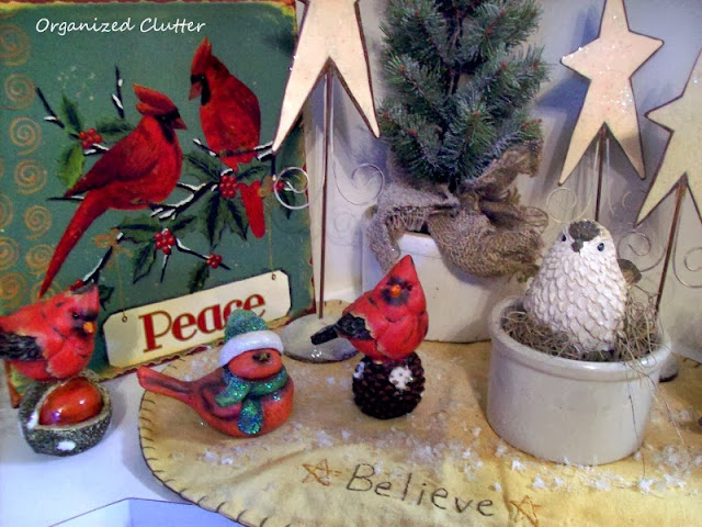 Christmas Bird Vignette