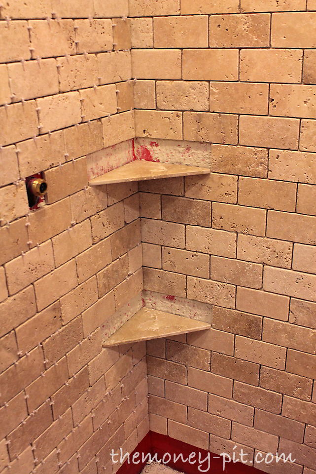 Remember when installing the shelves you want them to for How to install ceramic tile in bathroom wall