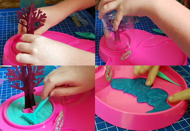 Magic Garden creating tree and placing in position adding slime water