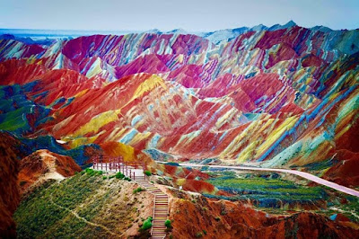 Rainbow Mountains of China's Zhangye Danxia