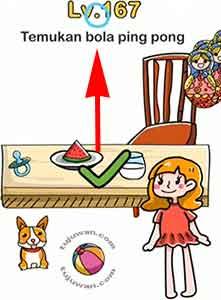 Jawaban brain out Temukan Bola Ping Pong level 167
