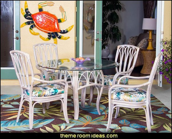 Coastal 5 Piece Breakfast Nook Dining Set  coastal kitchen decor - beach house kitchen - Coastal kitchen & dining - coastal Christmas kitchen decorations - Cottage Holiday decor - seafood fish shaped kitchen decor - nautical kitchen accessories - Sea Shells cutlery