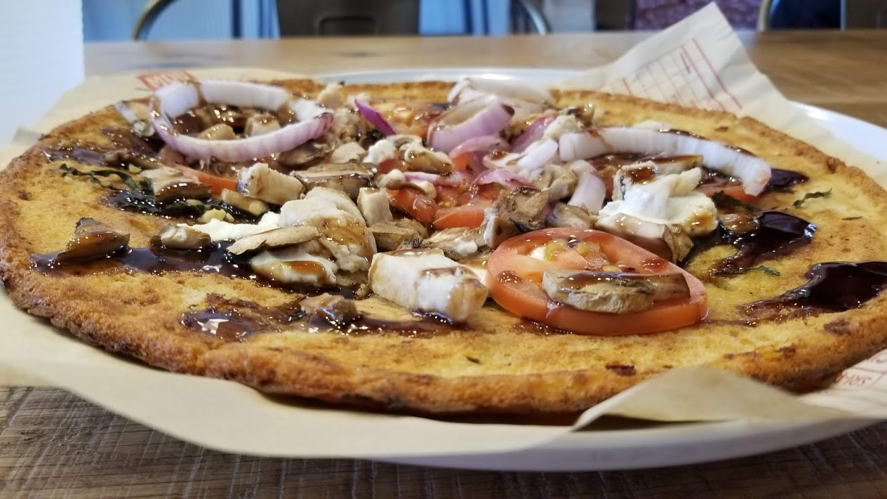 Cauliflower crust pizza from MOD Pizza