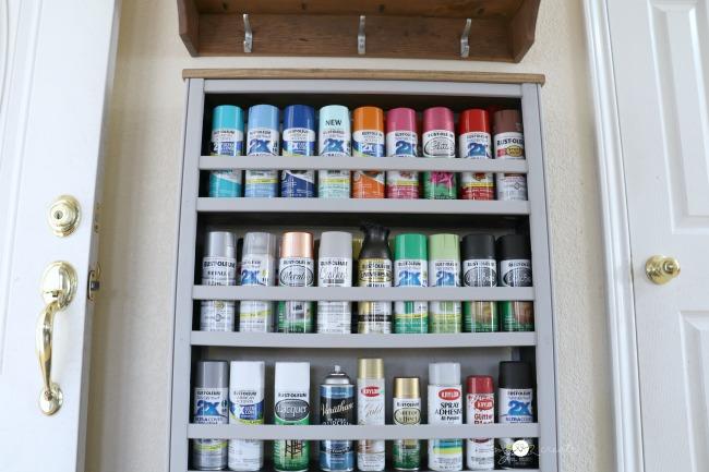 Repurposed Crib Paint Shelf, MyLove2Create