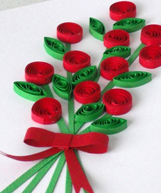 Ide membuat kerajinan kertas berbentuk bunga untuk anak-anak 1