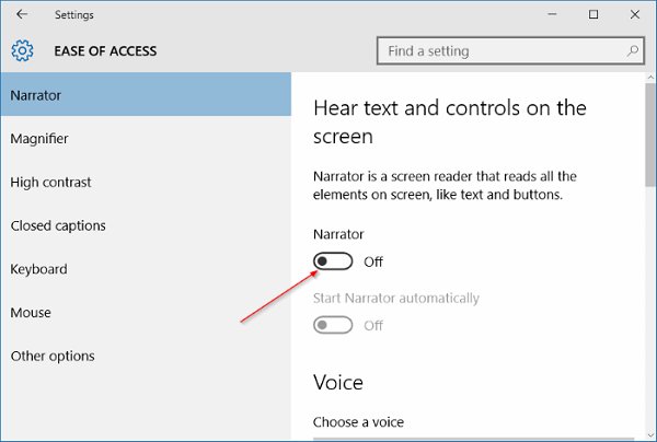 How to use Narrator in Windows 10