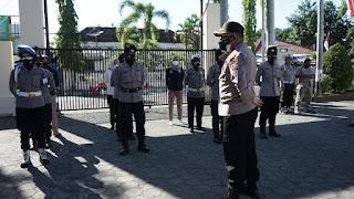 Jelang HUT Polwan ke 73, Wakapolres Gelar Gaktibplin Pada Personel Polwan Polres Probolinggo Kota