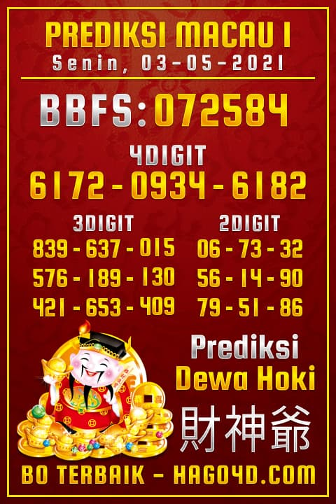 Dewa Hoki - Rumus Togel Toto Macau P1