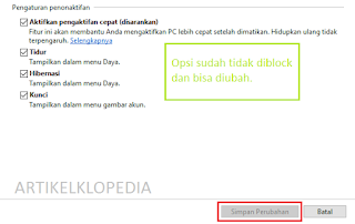 Menampilkan hibernate Windows 10 Artikelklopedia