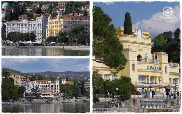 Gartenblog Topfgartenwelt Kroatien: Hotel Kvarner, historische Bauten im Stil der Donaumonarchie