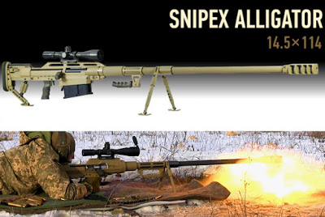 SNIPEX ALLIGATOR. O fuzil anti-material ucraniano Alligator: Reencarnação do PTRS