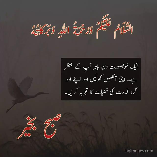 good morning wishes in urdu