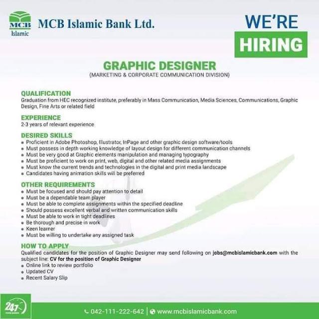 MCB Islamic Bank Ltd Jobs 2021