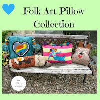 Folk Art Pillow Collection by Minaz Jantz