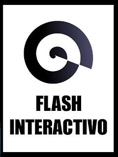 Logotipo de la nueva colección de librojuegos «Flash Interactivo» de «Con Pluma y Píxel»