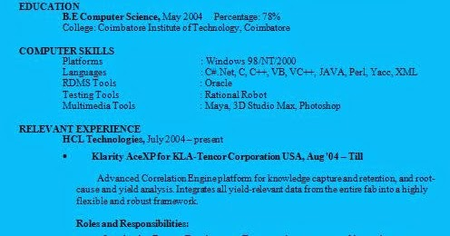 Resume Examples Informatica Resume Sample With Experience Summary As ...