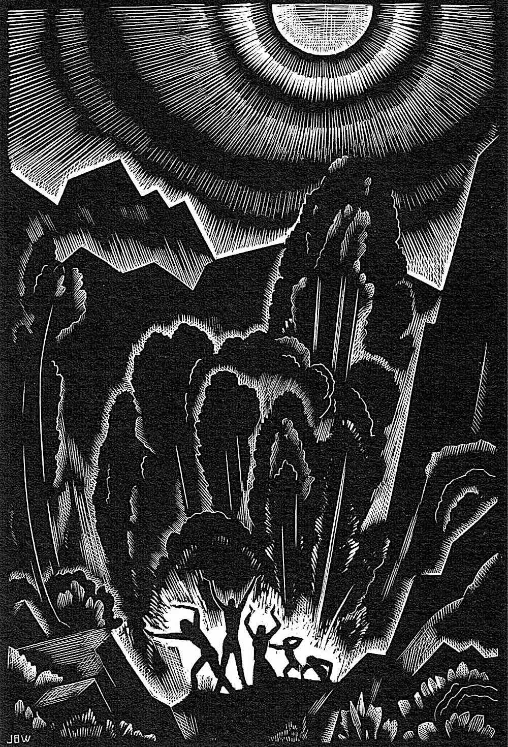 a John Buckland Wright woodcut illustration