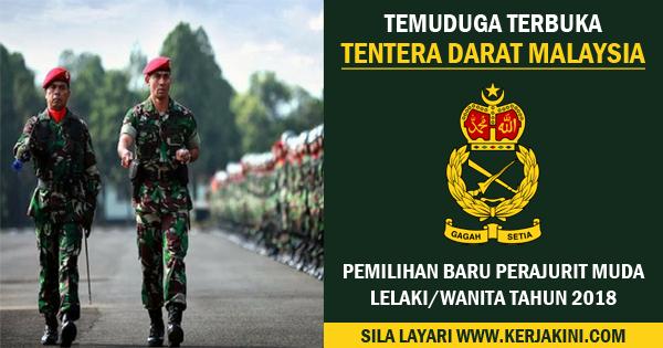 jawatan kosong tentera darat malaysia 2018
