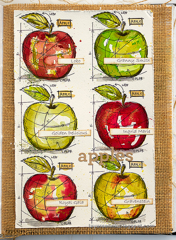 Layers of ink - Watercolor Apples Tutorial by Anna-Karin Evaldsson.
