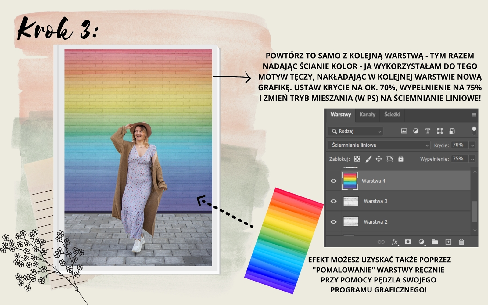 4 rainbow brick wall in photoshop canva tutorial how make amazing photos on instagram trick ps hack tutorial photo trick ideas instagram