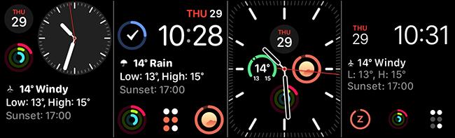 واجهات الساعة Modular و Modular Compact و Infograph Modular و Meridian لمواجهة المضاعفات.