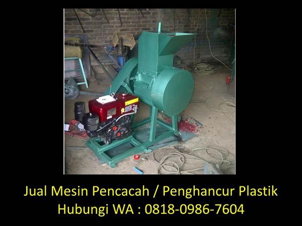 fungsi mesin pencacah plastik di bandung