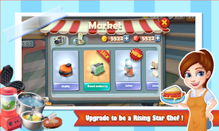 Screenshots of the Rising Super Chef: Cooking Game for Android tablet, phone.