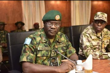 Maj General Olusegun  Adeniyi, dismissed after asking for weapon and welfare to fight Boko Haram terrorists