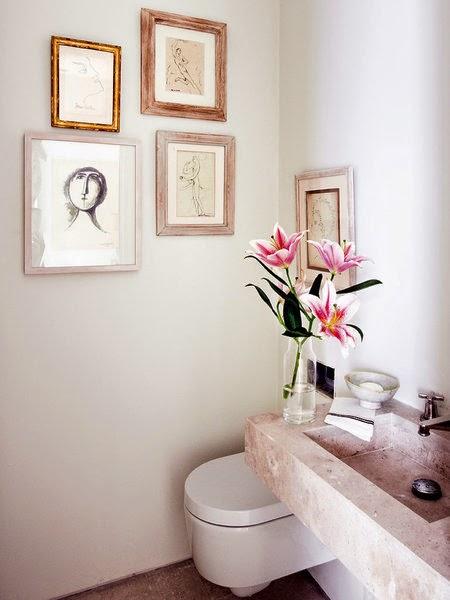 Decotips el ba o a cuadros decoraci n - Cuadros para decorar el bano ...