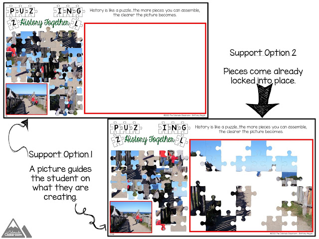 Two puzzles are provided that lend support to students who need it.