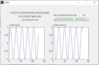 Cara Menggunakan Slider di GUI MATLAB dan Contoh Program
