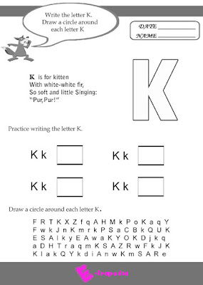 free letter k worksheets for kindergarten collection
