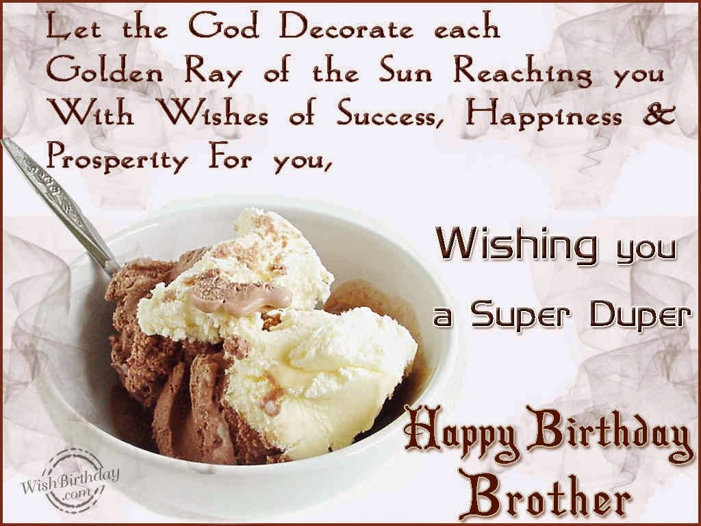 Birthday Wishes For Brother « Birthday Wishes