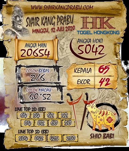 Syair Kang Prabu HK Minggu 12 Juli 2020
