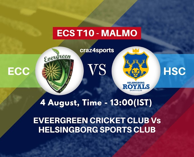 ECC VS HSC Dream11 prediction | EVEERGREEN CRICKET CLUB Vs HELSINGBORG SPORTS CLUB | Dream11 ECS T10 MALMO | Top picks | Players stats | Pitch Report | Dream Team