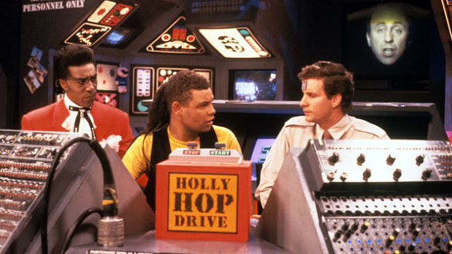 The Cat, Lister, Rimmer and Holly in Red Dwarf II