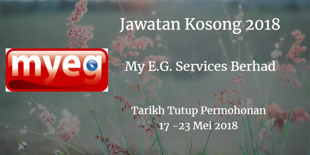 Jawatan Kosong My E.G. Services Berhad 17 -23 Mei 2018