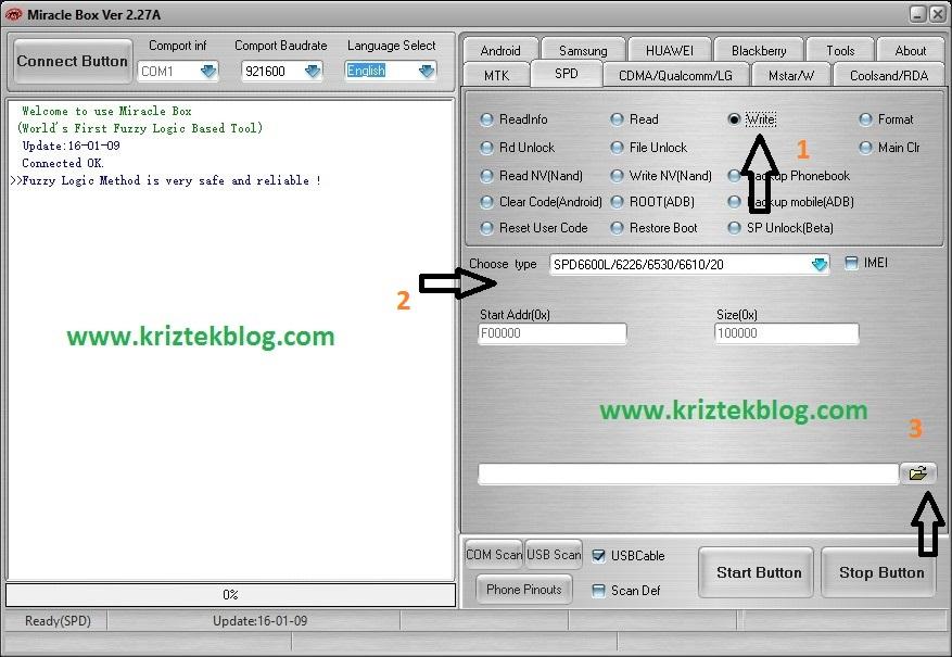 Flash .bin firmware files to spreadtrum devices tick write