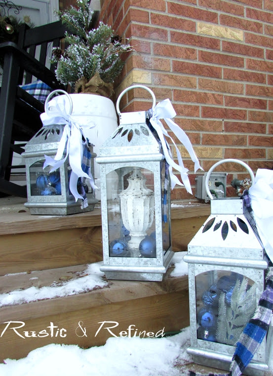 How to decorate lanterns for Christmas