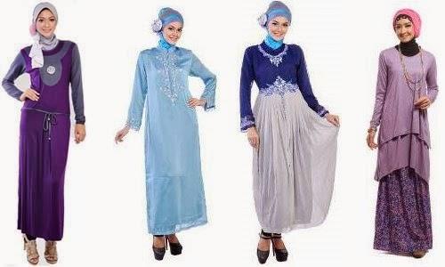 berbagai contoh desain baju muslim wanita terbaru