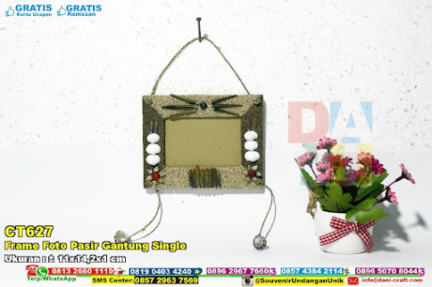 Frame Foto Pasir Gantung Single