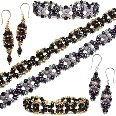 Eclipse Bracelet and Earrings at AroundTheBeadingTable.com